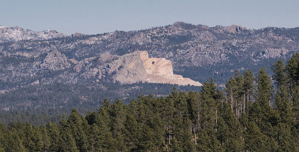Crazy Horse and forest