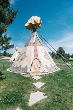 teepee in the morning